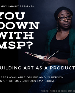 Advertisement for Shimmy's Build a Minimal Stage Ready Product (MSP) class